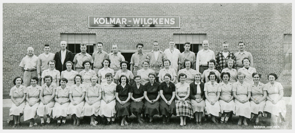 Old photo of Kolmar Wickens employees